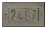 "Manchester Address Plate w/ 3"" BRONZE Brass Numbers (numbers included)"