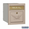 Salsbury 4145E-BGE Column Mailbox Locking Beige Eagle Door