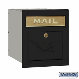 Salsbury 4145E-BKE Column Mailbox Locking Black Eagle Door