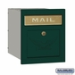 Salsbury 4145E-GRN Column Mailbox Locking Green Eagle Door
