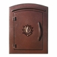 Column Mailbox with Agave in Antique Copper