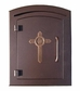 Manchester Column Mailbox with Cross Emblem in Antique Copper