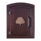 Manchester Security Locking Stucco Column Mailbox with Oak Tree Emblem - Stucco Column Included (Choose Colors)