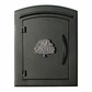 Manchester Stucco Locking Column Mailbox with Oak Tree Emblem - Stucco Column Included (Choose Colors)