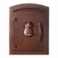 Manchester Security Locking Column Mount Mailbox with Decorative Pineapple Emblem in Antique Copper (Stucco Column Not Included)