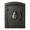 Column Mailbox with Pineapple in Black
