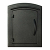 Manchester Non-Locking Column Mount Mailbox with Plain Door in Black
