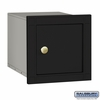 Salsbury 4140P-BLK Column Mounted Mailbox - Non-Locking - Plain Door - Black