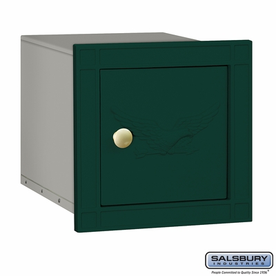 Salsbury 4140E-GRN Column Mounted Mailbox with Eagle Without Slot In Green