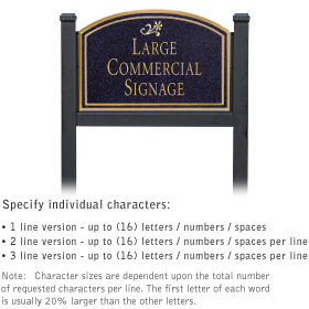 Salsbury 1522BGD1 Commercial Address Sign