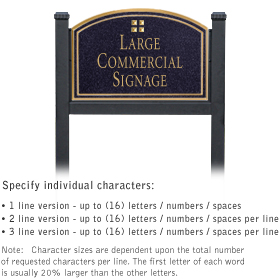 Professional Lawn Plaques - Arched 1-Sided - Grid Emblem