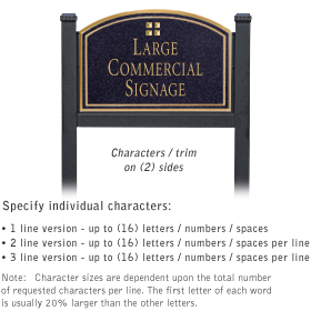 Professional Lawn Plaques - Arched 2-Sided - Grid Emblem