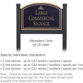 Professional Lawn Plaques - Arched 2-Sided - Infinity Emblem