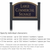 Salsbury 1522BGN1 Commercial Address Sign
