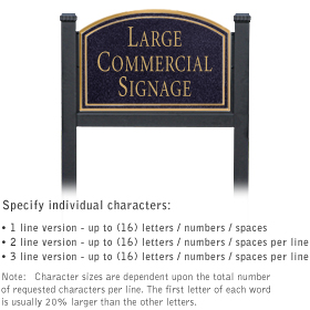 Professional Lawn Plaques - Arched 1-Sided - No Emblem