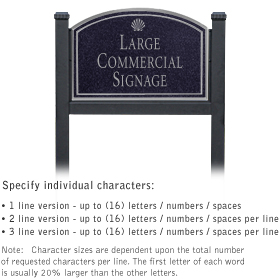 Salsbury 1522BSS1 Commercial Address Sign