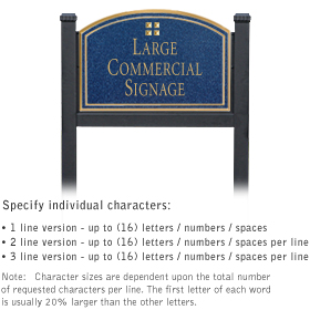 Salsbury 1522CGG1 Commercial Address Sign