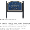 Salsbury 1522CGN1 Commercial Address Sign