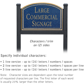 Salsbury 1522CGN2 Commercial Address Sign