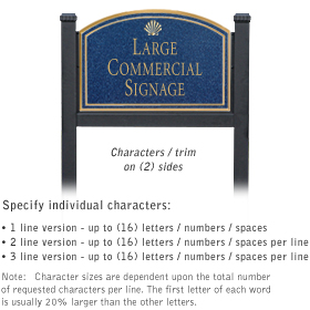 Salsbury 1522CGS2 Commercial Address Sign