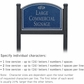 Salsbury 1522CSF1 Commercial Address Sign