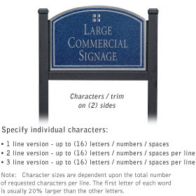 Salsbury 1522CSG2 Commercial Address Sign