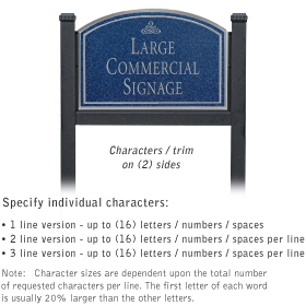 Salsbury 1522CSI2 Commercial Address Sign