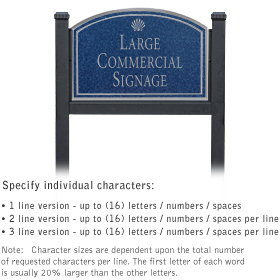 Salsbury 1522CSS1 Commercial Address Sign
