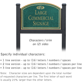 Salsbury 1522JGF2 Commercial Address Sign