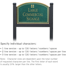 Salsbury 1522JGG1 Commercial Address Sign