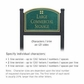 Salsbury 1522JGG2 Commercial Address Sign