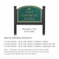 Salsbury 1522JGI2 Commercial Address Sign