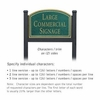 Salsbury 1522JGN2 Commercial Address Sign