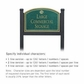 Salsbury 1522JGS1 Commercial Address Sign