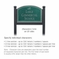 Salsbury 1522JSD2 Commercial Address Sign