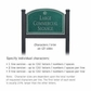 Salsbury 1522JSS2 Commercial Address Sign