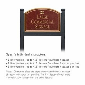 Salsbury 1522MGG1 Commercial Address Sign