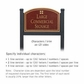 Salsbury 1522MGG2 Commercial Address Sign