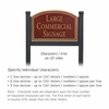 Salsbury 1522MGN2 Commercial Address Sign
