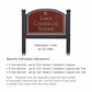 Salsbury 1522MSG2 Commercial Address Sign