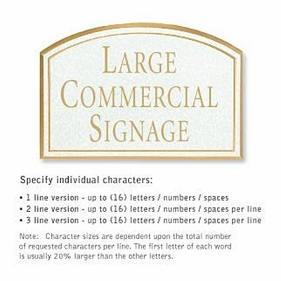 Salsbury 1522WGN1 Commercial Address Sign
