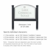 Salsbury 1522WSG2 Commercial Address Sign
