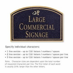 Commercial Wall Plaques - Arched 1-Sided