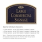 Salsbury 1520BGF2 Commercial Address Sign