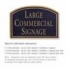 Salsbury 1520BGN2 Commercial Address Sign