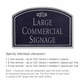 Salsbury 1520BSF2 Commercial Address Sign