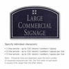 Salsbury 1520BSG2 Commercial Address Sign