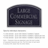 Salsbury 1520BSN Commercial Address Sign