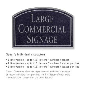 Salsbury 1520BSN2 Commercial Address Sign