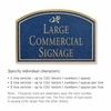 Salsbury 1520CGD2 Commercial Address Sign